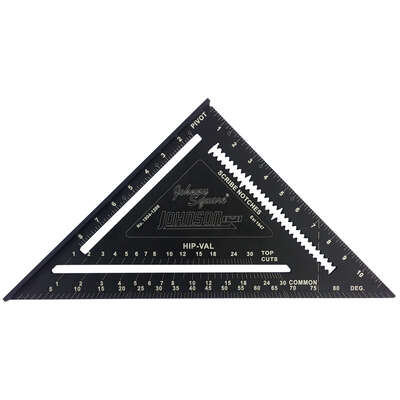 Johnson  Johnny Square  12 in. L Aluminum  Professional Easy-Read  Rafter Square