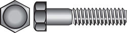 Hillman  1/2 in. Dia. x 7 in. L Hot Dipped Galvanized  Steel  Hex Bolt  25 pk