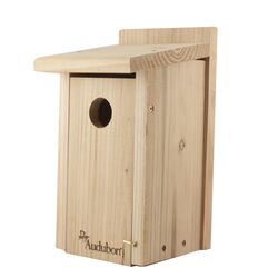 Audubon  12 in. H x 6.4 in. W x 6.4 in. L Red Cedar  Bird House