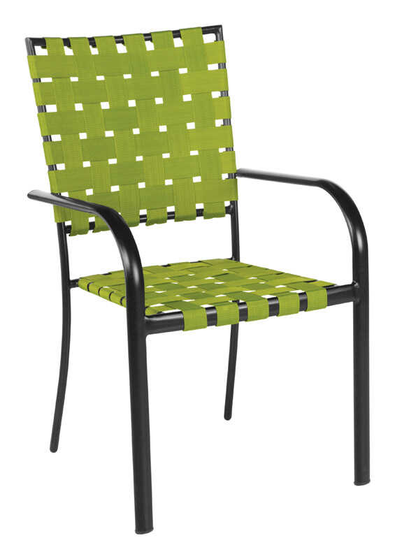 Rio Brands  Black  Steel  Chair