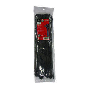 Gardner Bender  14 in. L Black  Cable Tie  100 pk