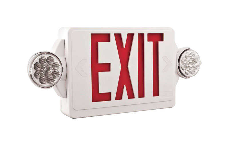 Lithonia Lighting  Thermoplastic  Indoor  LED  Lighted Exit Sign and Emergency Lights