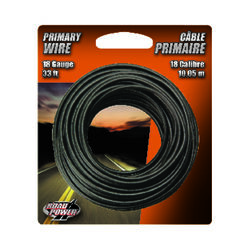 Coleman Cable  33 ft. 18 Ga. Primary Wire  Black