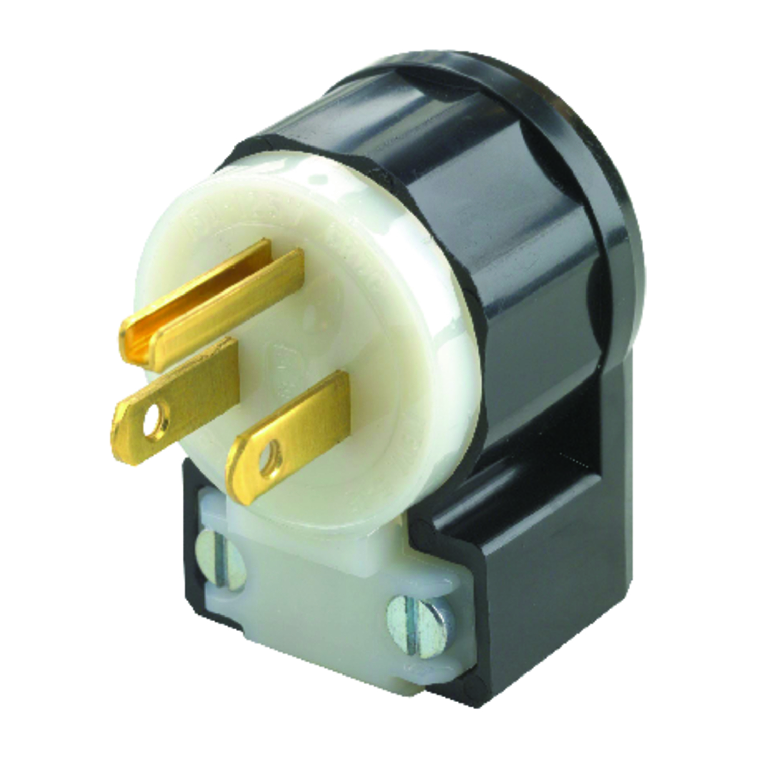 Leviton  Industrial  Nylon  Grounding  Plug  5-15P  18-10 AWG 2 Pole 3 Wire