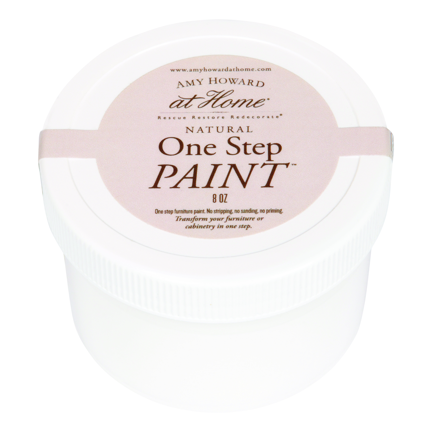 Amy Howard at Home  Flat Chalky Finish  8 oz. One Step Paint  Ballet White