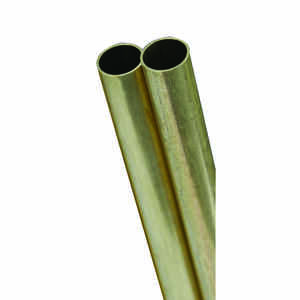 K&S  3/32 in. Dia. x 12 in. L Square  Brass Tube  2 pk
