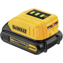 DeWalt  12V/20V MAX  Lithium-Ion  USB Power Source Adapter  1 pc.