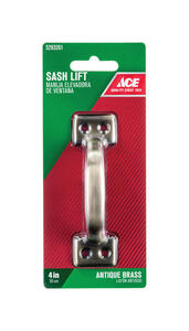 Ace  4 in. L Antique Brass  Steel  Universal  Sash Lift Handle  1 pk
