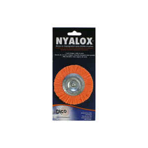 DICO NYALOX  3 in. Twisted  Wheel Brush  Nylon  2500 rpm 1 pc.