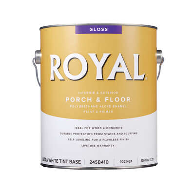 Royal  Gloss  Ultra White Base  Porch & Floor Alkyd Enamel  1 gal.