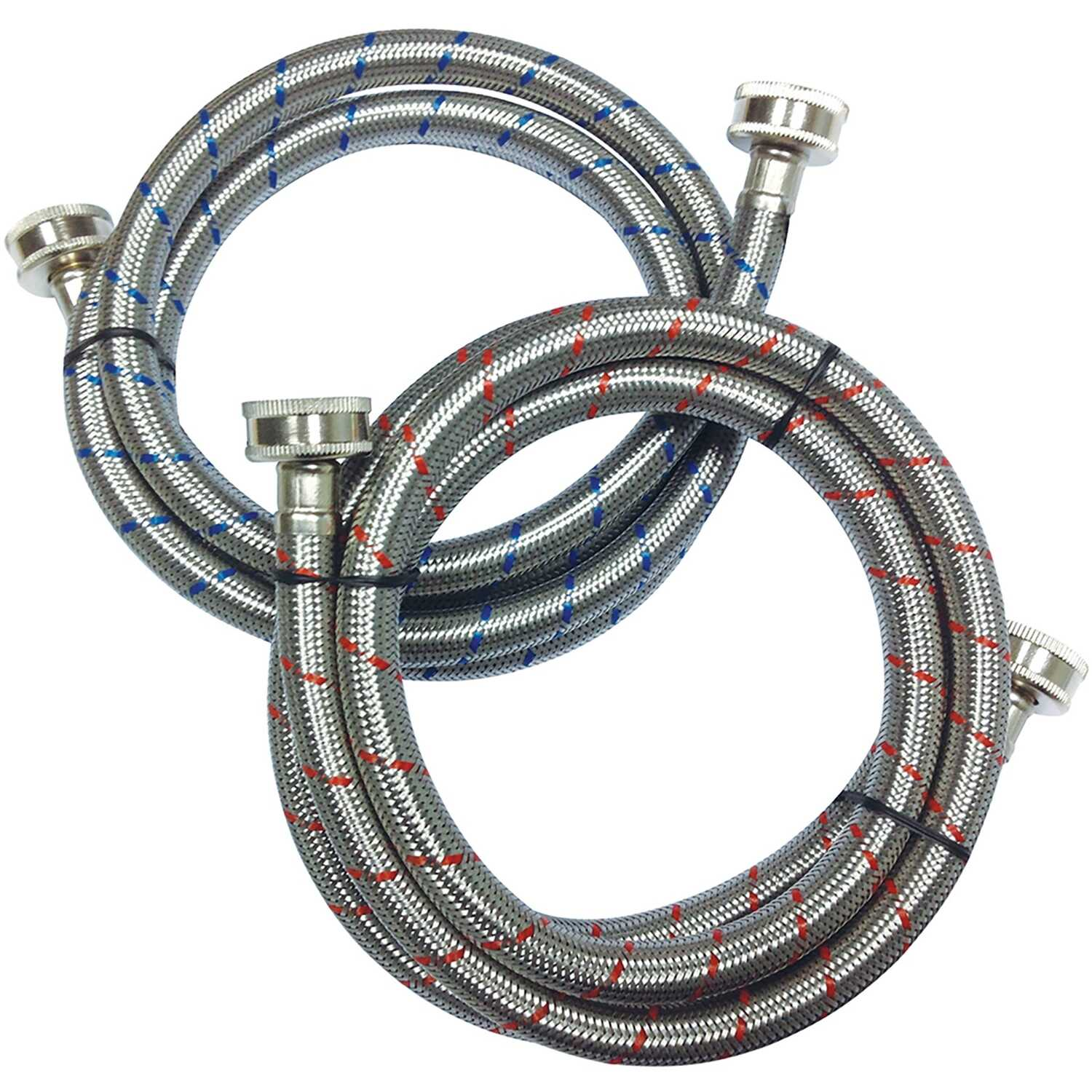 Ace  3/4 in. Hose   x 3/4 in. Dia. Hose  Stainless Steel  60 in. Supply Line