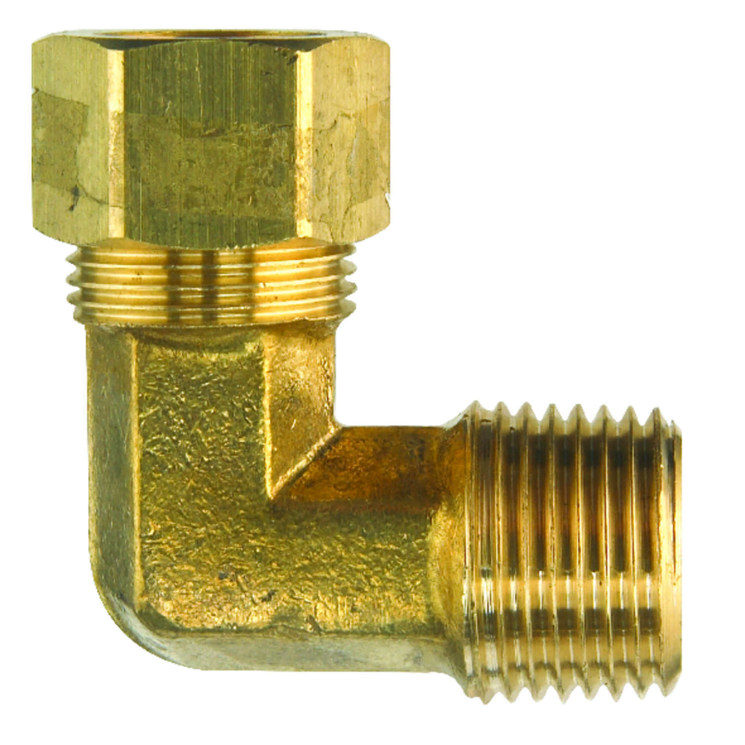 Ace  5/8 in. Dia. x 1/2 in. Dia. Compression To MPT To Compression  Yellow Brass  Elbow