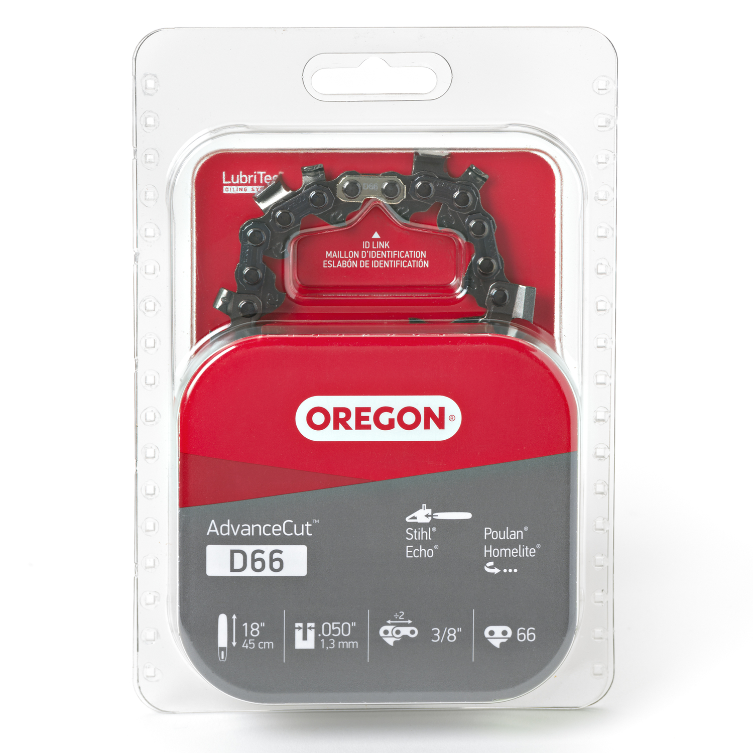 Oregon  18 in. L 66 links Chainsaw Chain