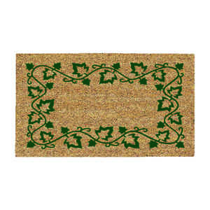 DeCoir  Ivy Border  Tan/Green  Coir  Nonslip Door Mat  16 in. L x 27 in. W
