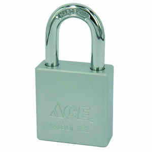 Ace  1-13/16 in. H x 1-3/4 in. W x 3/4 in. L Double Locking  Padlock  1 pk Steel