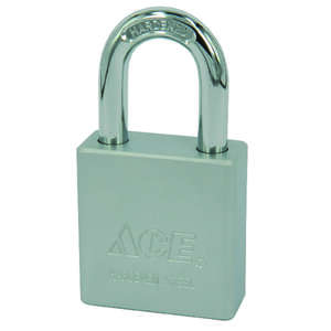 Ace  1-13/16 in. H x 1-3/4 in. W Double Locking  Steel  Padlock  1 pk