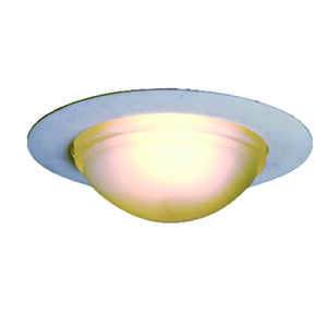 Halo  Satin Nickel  White  6 in. W Glass  Recessed Lighting Dome Shower Trim  Incandescent