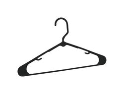 Homz  9-3/8 in. H x 3/8 in. W x 16-1/4 in. L Plastic  Black  Heavy Duty Clothes Hangers  10 pk