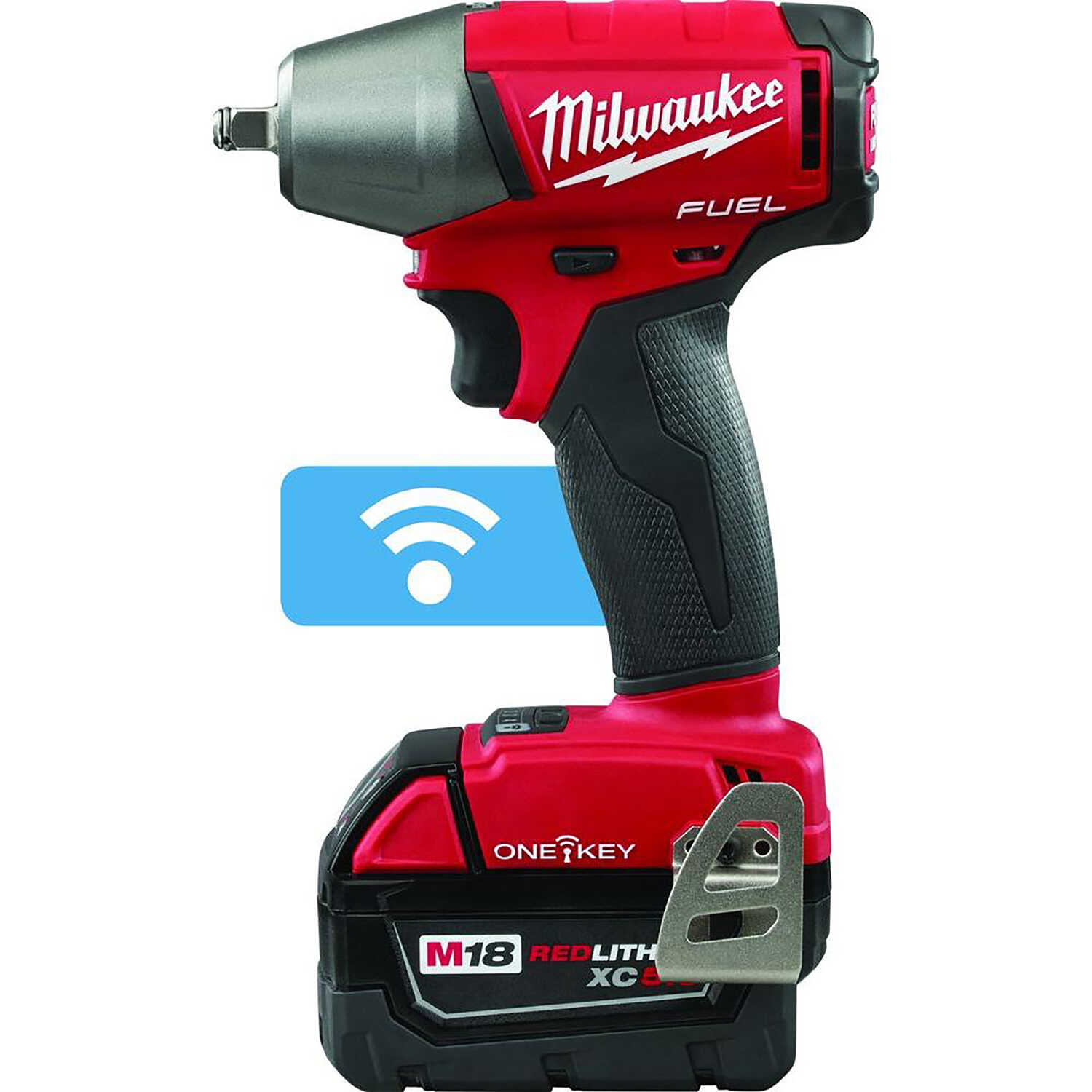 Milwaukee  M18 Fuel  3/8 in. Cordless  Brushless Impact Wrench with Friction Ring  Kit 18 volt 5 amp