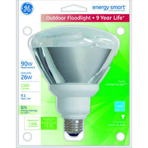 GE Lighting  Energy Smart  26 watts PAR38  5.6 in. CFL Bulb  Floodlight  1 pk 1300 lumens Soft White