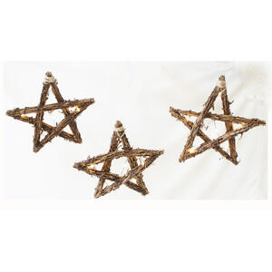 Sienna  Lighted Rope Star  Christmas Decoration  Brown  Grapevine  1 pk