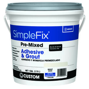 Custom Building Products  SimpleFix  Indoor  White  Grout  1 gal.