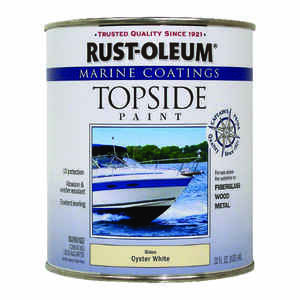 Rust-Oleum  Marine Coatings  Outdoor  Oyster White  Marine Topside Paint  1 qt.