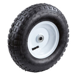 Farm and Ranch  6 in. Dia. x 13 in. Dia. 300 lb. capacity Centered  Tire  Rubber  1 pk