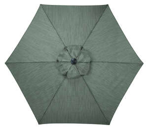 Living Accents  Brookstone  9 ft. Tiltable Gray  Patio Umbrella