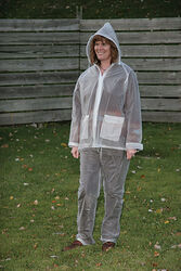 Camp Master  Clear  Vinyl  Rain Suit  XXXL