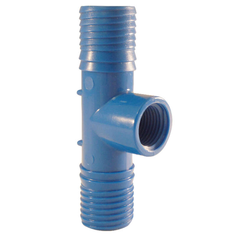 Apollo  Blue Twister  1 in. Insert   x 1 in. Dia. Insert  Acetal  Tee