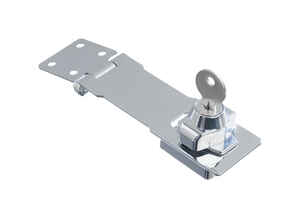 Ace  Chrome  4-1/2 in. L Keyed Hasp Lock