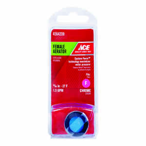 Ace  Chrome  55/64 in.  x 15/16 in.  Female Aerator  1 pack