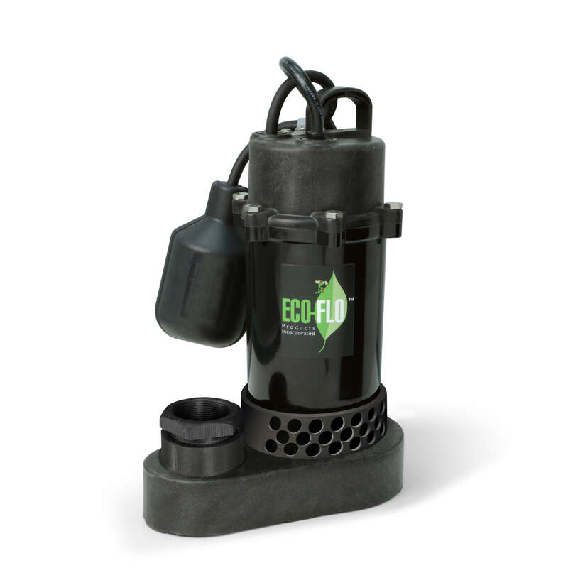 ECO-FLO 1/2 hp 4080 gph Aluminum Tethered Float AC Submersible Sump Pump