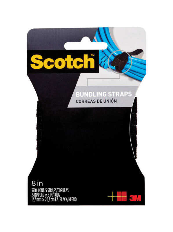 3M  Scoth  Medium  Foam  8 in. L Bundling Straps  5 pk
