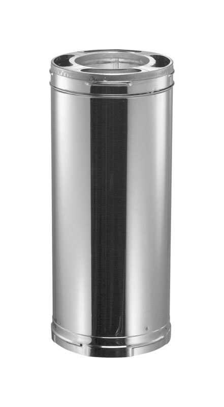 Duravent  6 in. Dia. x 15 in. L Galvanized Steel  Chimney Pipe