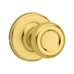 Kwikset Tylo Polished Brass Steel Passage Door Knob 3 Right or Left Handed