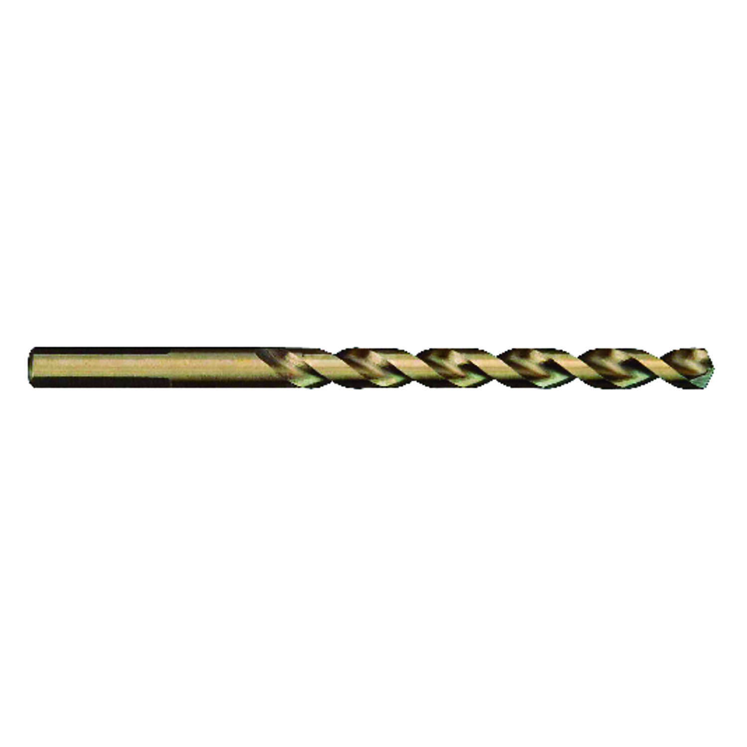 Milwaukee  RED HELIX  9/64 in. Dia. x 2-7/8 in. L Cobalt Steel  Round Shank  THUNDERBOLT  1 pc. Dril