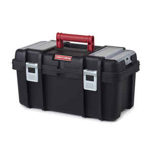 Craftsman  19 in. Poly Resin  7 in. W x 11 in. H Toolbox  Black