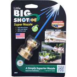 Little Big Shot  12 pattern Adjustable Continuous  Brass  Hose Nozzle