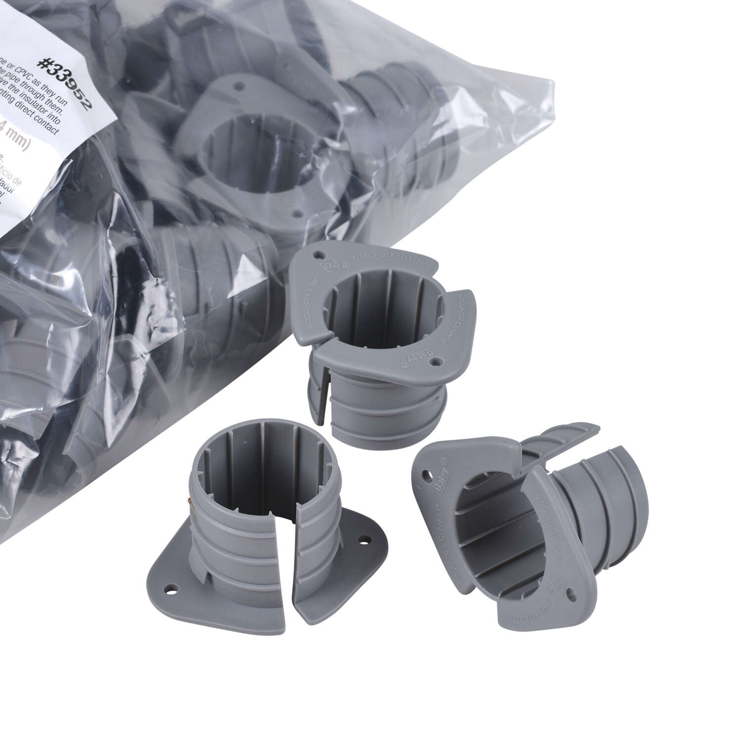 Oatey  3/4 in. Insulating Pipe Clamps  Polypropylene
