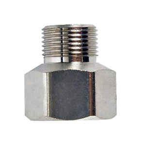 JMF  1/2 in. Dia. x 3/8 in. Dia. Threaded To Compression To Compression  Yellow Brass  Adapter