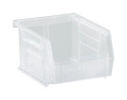 Quantum Storage  5-3/8 in. L x 4-1/8 in. W x 3 in. H Storage Bin  Plastic  1 compartment Clear