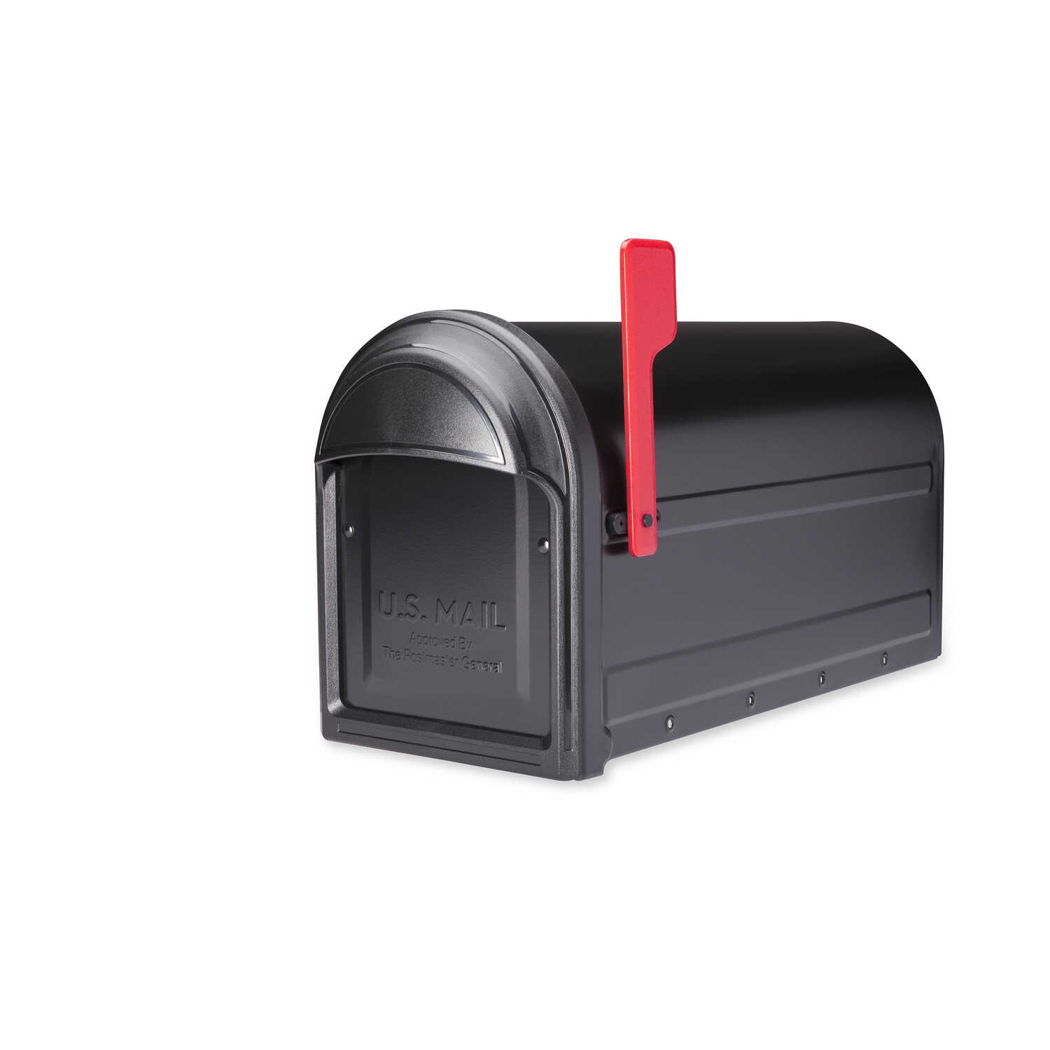 Architectural Mailboxes  Barrington  Galvanized Steel  Post Mounted  Black  Mailbox  11 in. H x 8.8