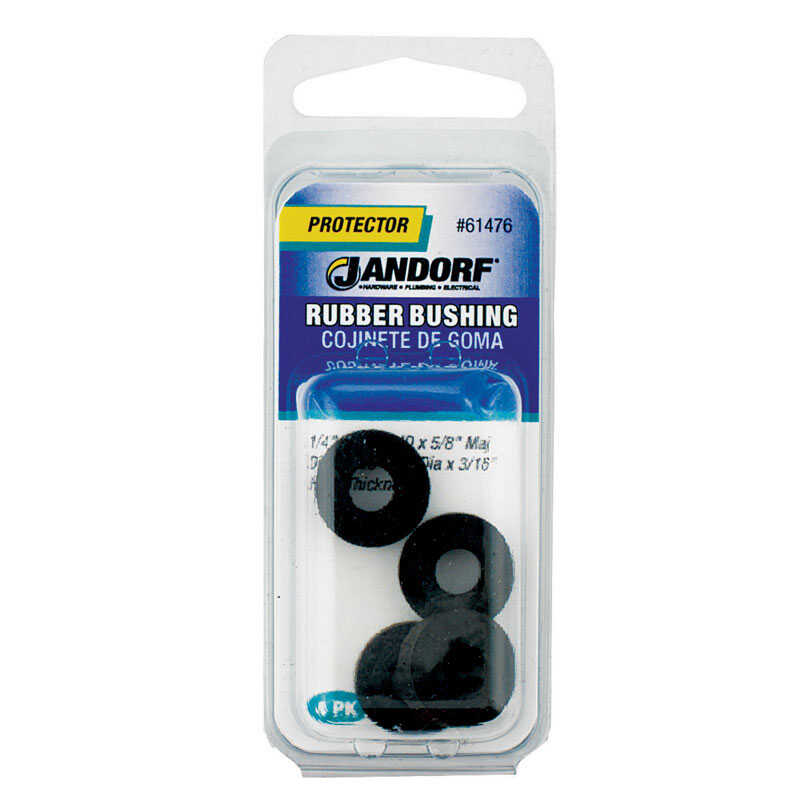 Jandorf  7/16 in. Rubber  Bushing  5 pk