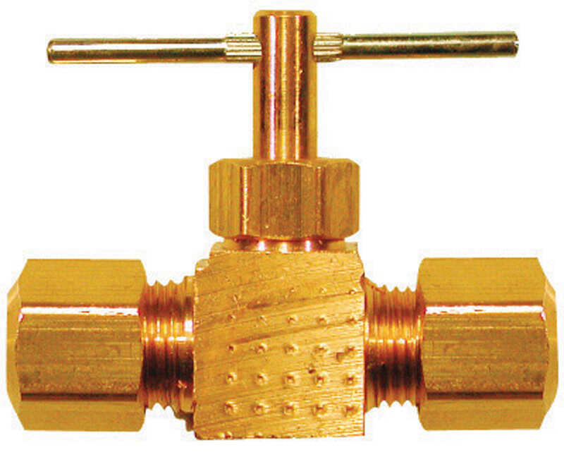 Ace  1/4 in. Dia. x 1/4 in. Dia. Brass  Straight  Needle Valve