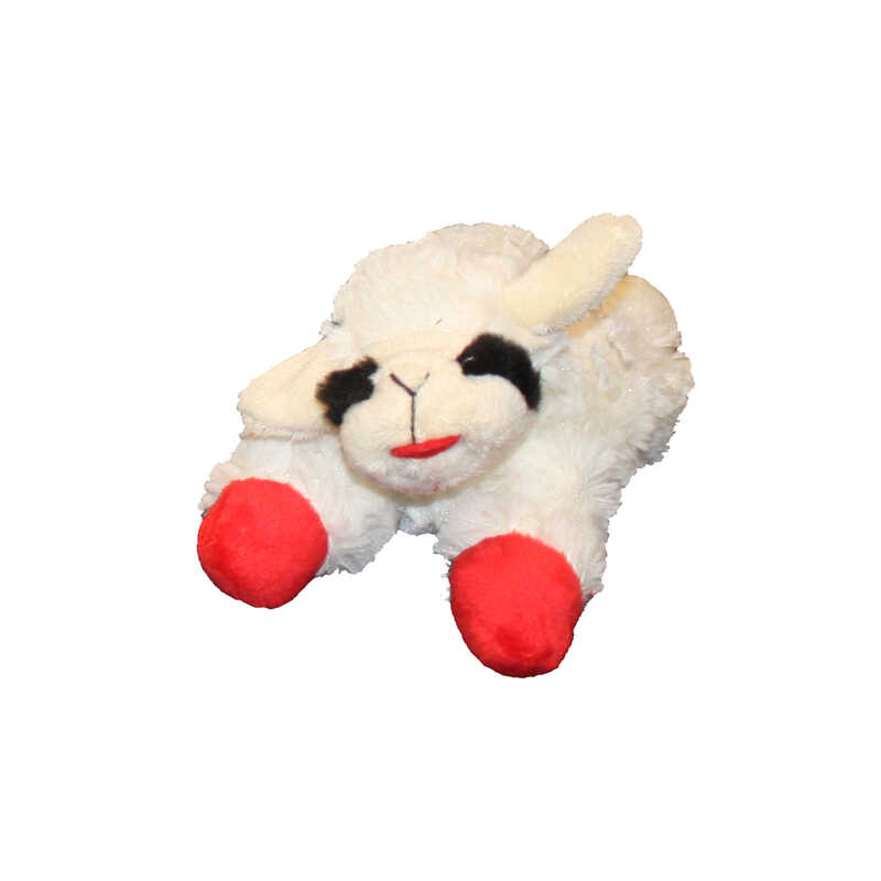 MultiPet  Multicolored  Lamb Chop  Plush  Small  Dog Bone