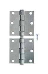 Ace  3 in. L Zinc-Plated  Broad Hinge  2 pk