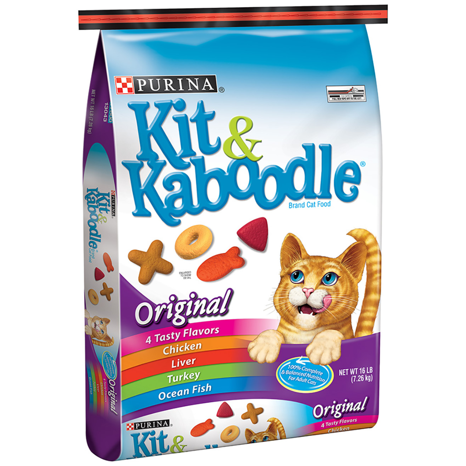 Purina  Kit & Kaboodle  Original Blend of great flavors  Dry  Cat  Food  16 lb.