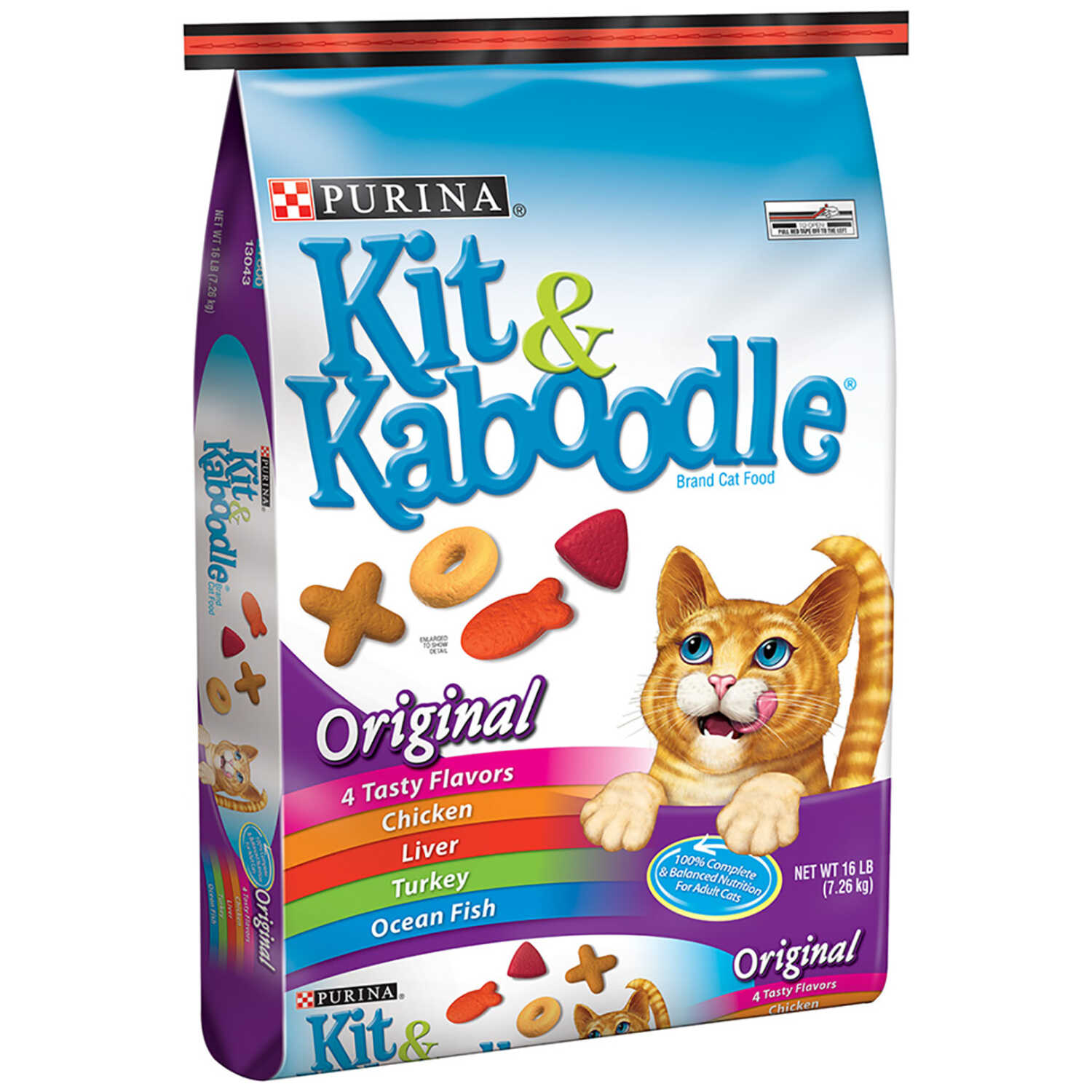 Purina Kit & Kaboodle Original Blend of great flavors Dry Cat Food ...
